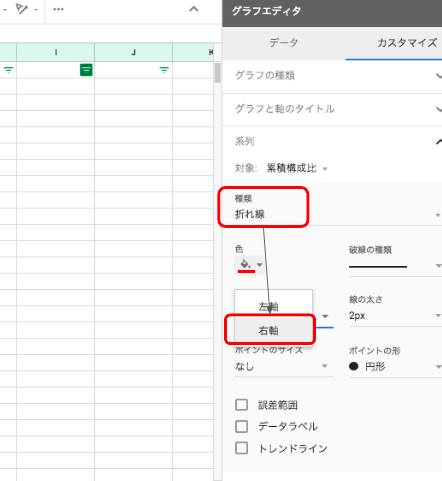 グラフ編集③