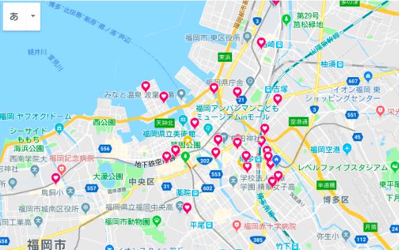 グーグルマップの例
