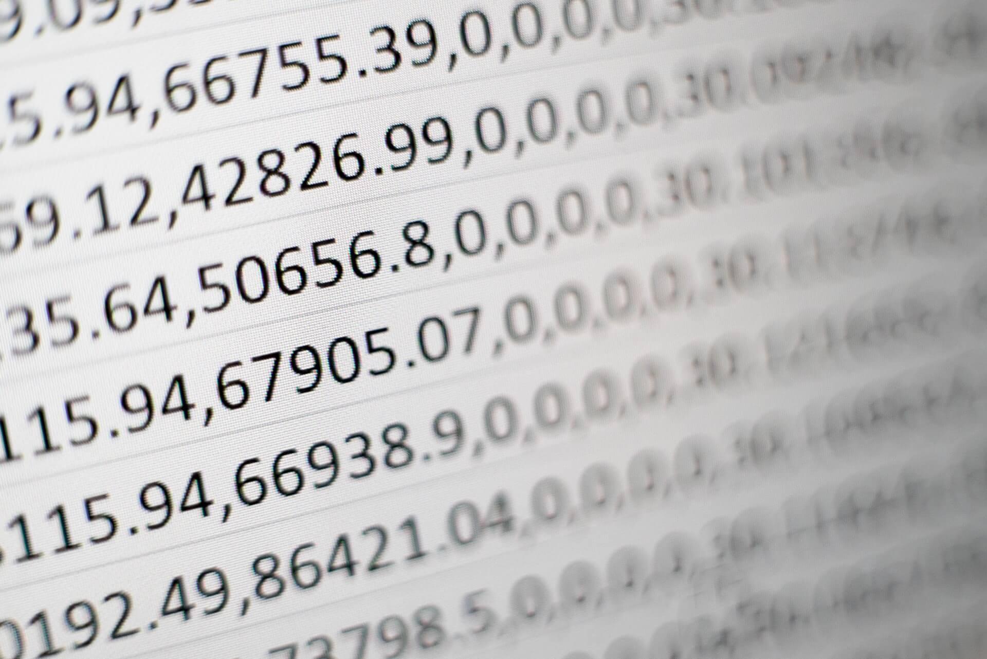 エクセルを使って度数分布表を作る