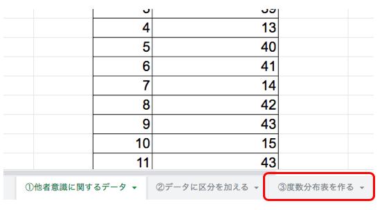 エクセルを使った度数分布表の作り方9